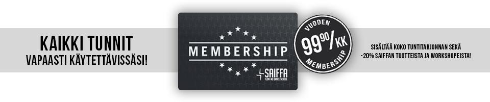 Membership - Kaikki tunni vapaasti käytettävissäsi!